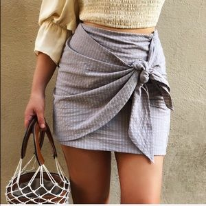 Dresses & Skirts - 🆕Shannon Taupe & Striped Tie Front Wrap Skirt